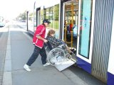 Wheelchair Loading To The Inekon Trio Tram