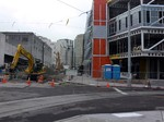 Seattle streetcar - new development at Terry and Thomas