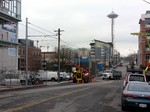 Seattle streetcar - Thomas Street and Westlake Ave.