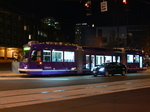 Seattle streetcar - night test ride along Westlake Avenue.