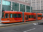 Seattle streetcar - parked at Westlake Hub