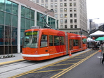 Seattle Streetcar ready to leave Westlake Hub!