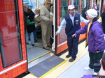 Seattle streetcar - the wheelchair ramp.