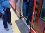 Seattle streetcar - wheelchair ramp.